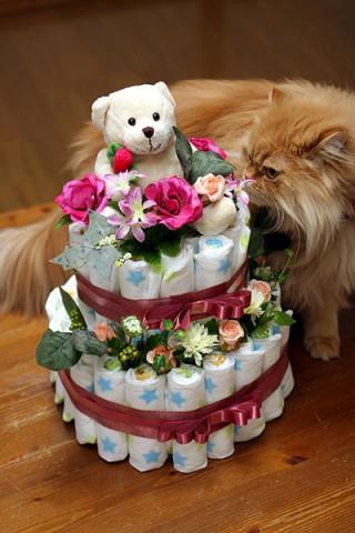 おむつケーキ 2段タイプ
